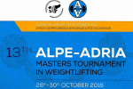 13^ Alpe Adria Master International Tournament - Ljubljana 28-30 october 2016