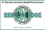 Results Book 54° Alpe Adria Tournament